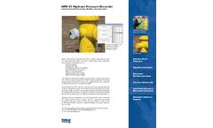 Telog - Model HPR-31 - Hydrant Pressure Recorders Brochure