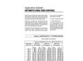 Automatic Rinse Tank Controls - Application Bulletin