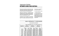 Automatic Rinse Tank Controls - Application Bulletin