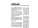 Deionized Water - Application Bulletin