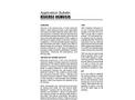 Reverse Osmosis - Application Bulletin