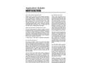 Horticulture - Application Bulletin