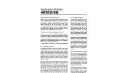 Horticulture - Application Bulletin