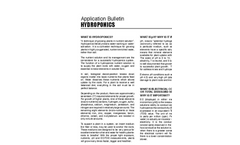 Hydroponics - Application Bulletin
