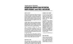 Oxidation Reduction Potential (ORP)/Redox - Application Bulletin