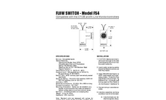 Flow Switch - FS4 - Compatible With the CTCII and In-Line Monitor/Controllers Datasheet