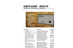 Remote Alarm - RA - Audible and Visual Alarm Component Datasheet
