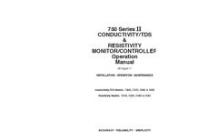 Myron L - 750 Series II - Conductivity/TDS & Resistivity Monitor/Controller - Operation Manual