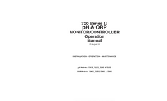 Myron L - Model 720 Series II - pH/ORP Monitor/Controllers - Operation Manual