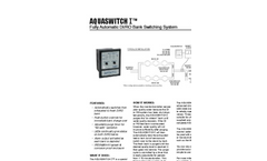 AQUASWITCH I - Fully Automatic DI/RO Bank Switching System - Datasheet