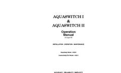 Myron L - Model AQUASWITCH I - Fully Automatic DI/RO Bank Switching System - Operation Manual