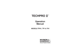 Myron L - Model TechPro II - TPH1, TP1 & TH1 - Operation Manual