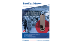 RanidPort - Model N - Industrial Spectrometric Radiation Portal Monitor for Indoor and Outdoor Installation Brochure
