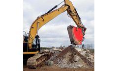 Allu Transformer Screener Crusher Screening And Recycling Demolition Waste - Case Study