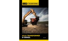 ALLU Transformer D series  - Brochure
