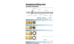 Foundation Drilling Tools - OD 72 (3 1/2 in), for BBE 56/57 Brochure