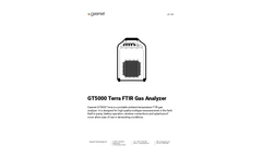 Gasmet - Model GT5000 Terra - Portable and Splashproof Multigas FTIR Analyzer System - Technical Datasheet
