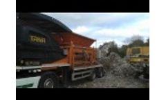 Ragger Wire Shredding With TANA Shark Industrial Waste Shredder Video