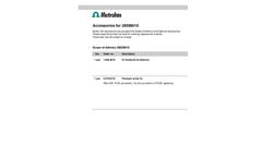 Metrohm - 2.850.9010 - IC Conductivity Detector - Brochure