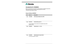 Metrohm - 2.942.0040 - 942 Extension Module Vario HPG - Brochure