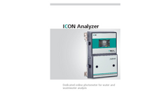 Metrohm ICON - Model ICON000010 - Online Photometer for Water and Wastewater Analysis - Brochure