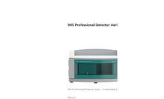 Model 945 Professional Detector Vario – Conductivity & Amperometry Manual