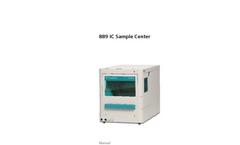 Metrohm - Model 889 - IC Sample Center - Manual