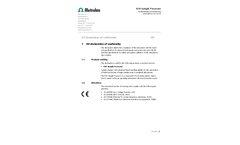 Metrohm - Model 810 - Sample Processor - Datasheet