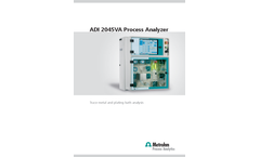 Metrohm - Model ADI2045VA - Process Analyzer - Brochure
