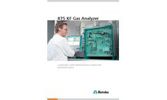 875 KF Gas Analyzer System - Brochure