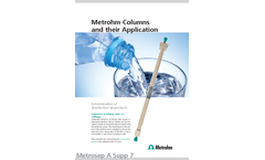 Metrohm Columns and their Application - Brochure