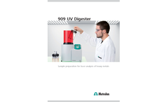 909 UV Digester Sample Preparation for Trace Analysis of Heavy Metals - Brochure