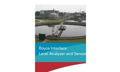 Royce - Model 2511A - Interface Level Analyzer and Sensors Brochure