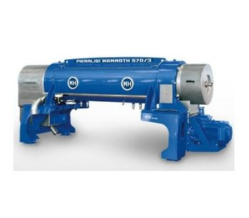 Pieralisi - Model Mammoth Series - Decanter Centrifuges for Separation and Clarification System