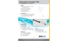 Disposable Cartridge Filter for ChemScan mini Analyzers - Brochure