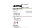 Sauereisen RestoKrete - Model No. 208 - Part B, Resin - MSDS