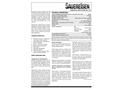 Sauereisen ConoFlex Urethane No. 381 Aromatic Polyurethane Lining - Technical Data Sheet