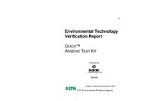 Quick™ ARSENIC TEST KIT: Verification Report