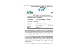 Quick™ ARSENIC TEST KIT: Verification Statement