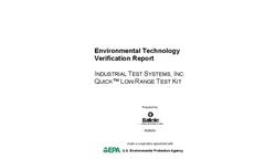 Quick™ Low Range Test Kit: Verification Report