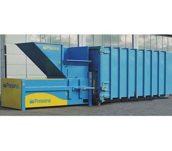 Presona - Model K - Heavy Duty Stationary Compactor for Rational Waste Handling