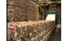 Presona - Baling of PET-Bottles and ALU-Cans - Video