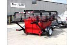 Rear Load Dumpster Delivery Trailer Video