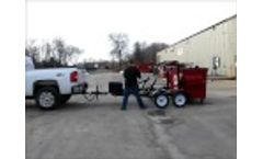 Front Load Dumpster Delivery Trailer Video