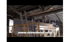 SRF bale opening square and round in cement kiln - Video