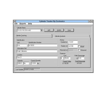 Environics - Cylinder Tracker Inventory Management Software