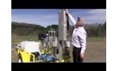 Vertek Automated Dynamic Cone Penetrometer ADCP - Trailer Mounted - Video