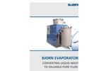 BJORN - Model ELT - Vacuum Evaporator - Brochure