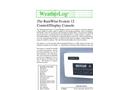 WeatherLog - S-12 - Display Console and Data Logger - Datasheet