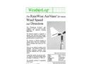 WeatherLog AerVane - Wind Speed and Direction Sensor - Datasheet